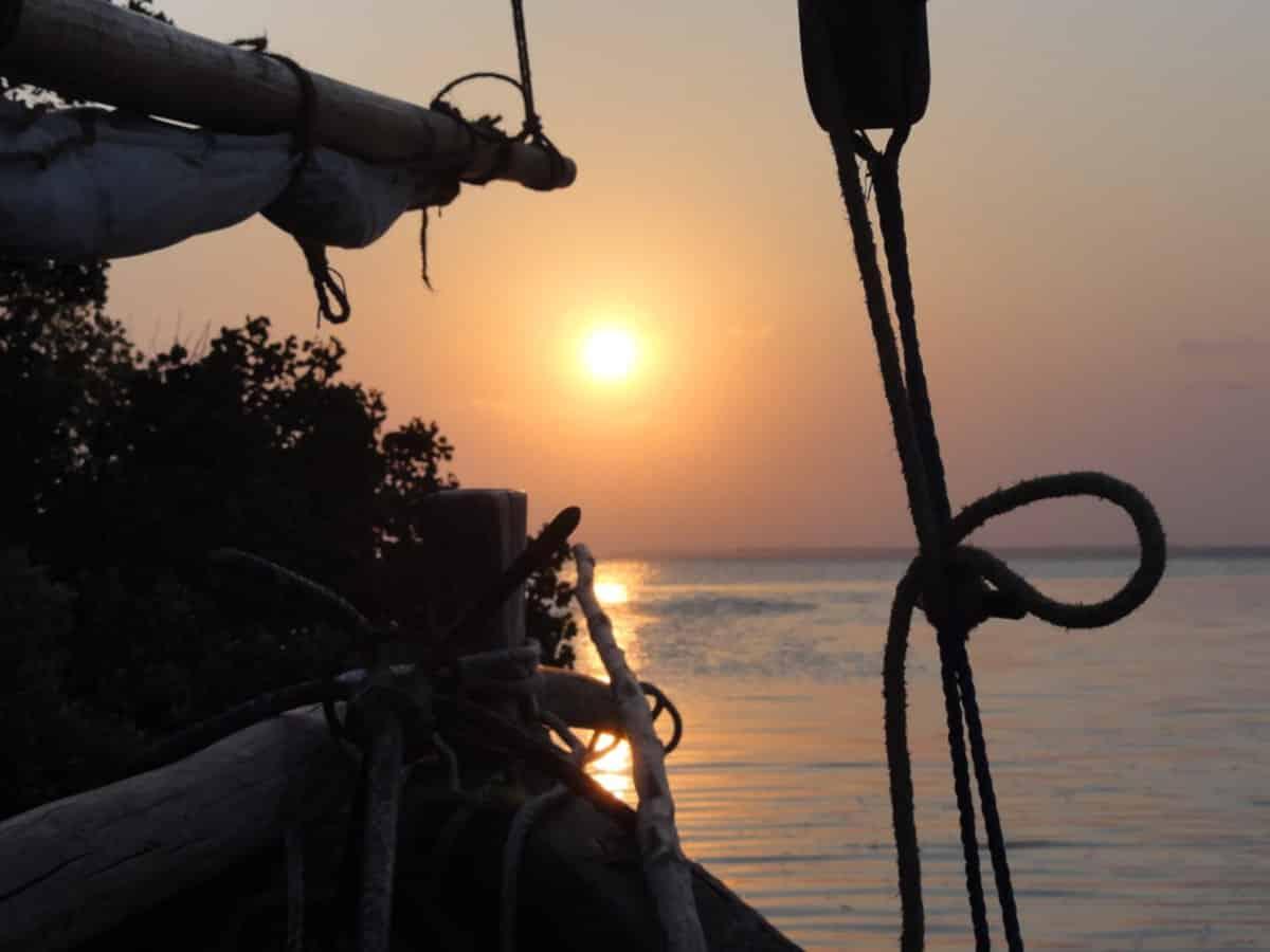 Boat Sunset in Mafia Island Marine Park