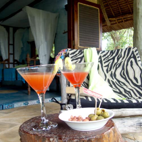 Drinks at Raha Veranda