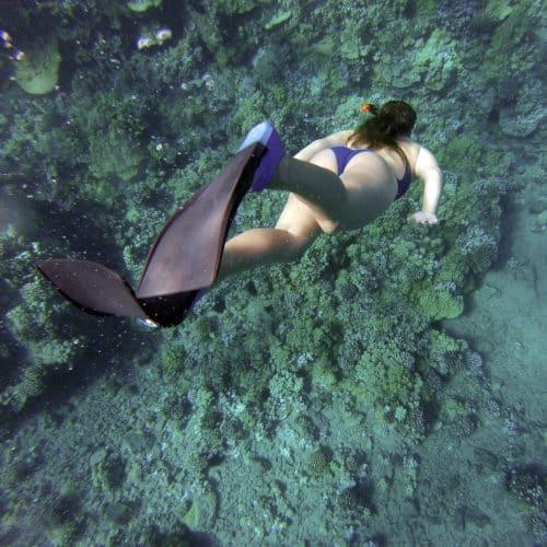 Girl Snorkeling in Chole Bay
